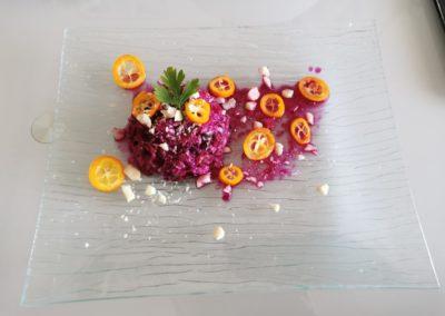 Salade de chou rouge aux kumquats