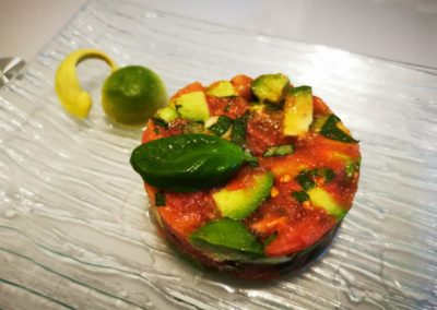 Tartare de tomate et avocat